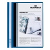Durable Duraplus Quotation Filing Folder PVC with Clear Title Pocket A4 Blue Ref 2579/06 [Pack 25]