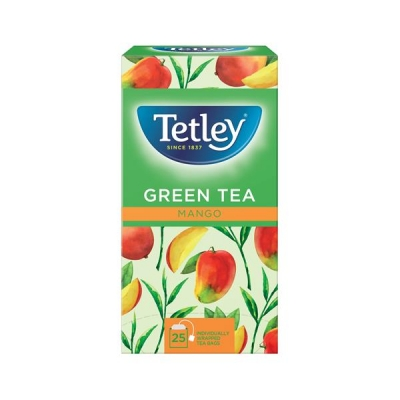Tetley Tea Bags Green Tea with Mango Ref 1578a [Pack 25]