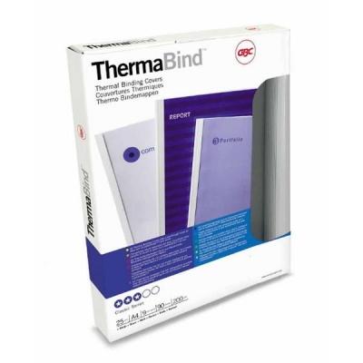 GBC Binding Covers Silk 6mm White Ref 45442 [Pack 25]