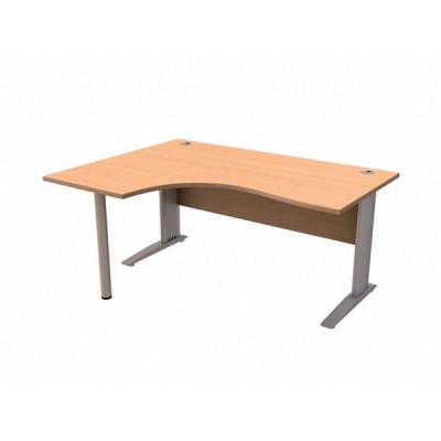 Sonix Cantilever  Desk Radial Left-hand 1600mm Beech