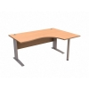 Sonix Cantilever  Desk Radial Right-hand 1600mm Beech