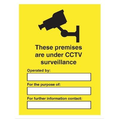 Stewart Superior Outdoor Sign These Premises are under CCTV Surveillance Foam PVC W300xH400mm Ref FB073