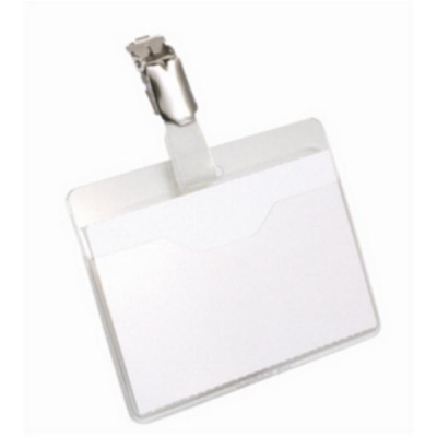 Durable Name Badges Visitors with Rotating Clip 60x90mm Ref 810619 [Pack 25]