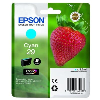 Epson No. 29 InkJet Cartridge 180pp 3.2ml Cyan Ref C13T29824010
