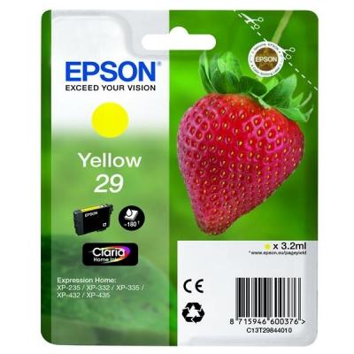 Epson No. 29 InkJet Cartridge 180pp 3.2ml Yellow Ref C13T29844010