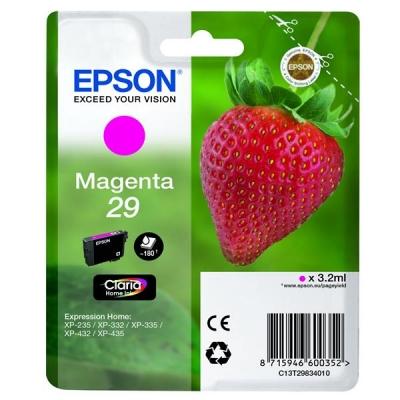 Epson No. 29 InkJet Cartridge 80pp 3.2ml Magenta Ref C13T29834010