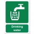 Stewart Superior Self Adhesive Catering Sign Drinking Water W150xH200mm Ref SP110
