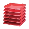 Avery Paperstack Letter Tray Self-stacking A4 W250xD320xH300mm Red Ref 5336RED [Pack 6]