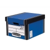 Bankers Box by Fellowes Premium 725 Classic Storage Box Inside Blue White Ref 7250603 [Pack 10]