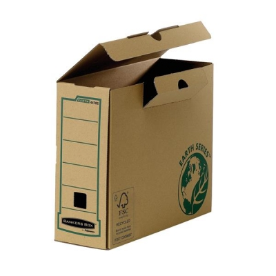 Bankers Box by Fellowes Earth Transfer File Recycled FSC Tab Lock Lid A4 Ref 4470201 [Pack 20]