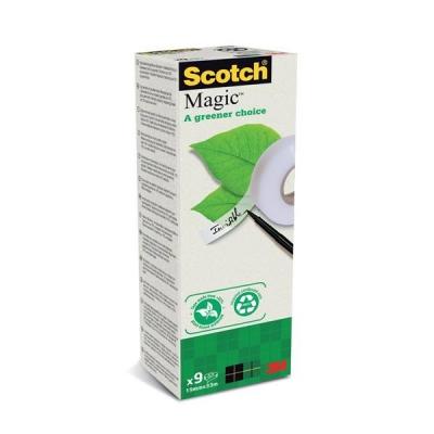 Scotch Magic Tape 900 Greener Choice Natural Fibre Film 19mmx33m Ref FT510283987 [Pack 9]