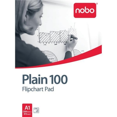 Nobo Flipchart Pad 100 Pages Coated A1 584x813mm [Pack 2]