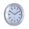 Wall Clock Brushed Aluminium Case Diameter 300mm