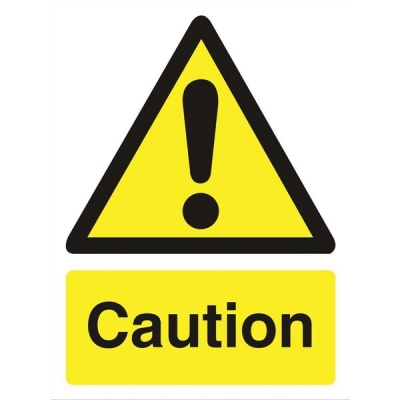Stewart Superior Caution Sign Self Adhesive Vinyl 150x200mm Ref WO125SAV