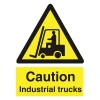 Stewart Superior Caution Industrial Trucks Sign Self Adhesive Vinyl 150x200mm Ref WO135SAV