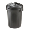 Refuse Bin Secure Push On Lid 80 Litre Black