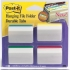 Post-it Index Filing Tabs Strong Angled Six Each of 4 Colours Assorted Ref 686-A1 [Pack 6]