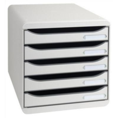 Big Box Plus Drawer Set Plastic 5 Drawers each H43mm A4plus Light Grey Ref 309740D
