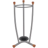 Umbrella Stand Removable Drip Tray Metal Finish Wood Trim 15 Umbrellas 1.1kg