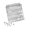 Nobolux Spare Characters Assorted for Letter Boards 19mm Chrome-look Ref 1901937 [Pack 250]
