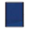 Nobo Noticeboard for Interior Glazed Case Lockable Fabric 6xA4 W692xD45xH752mm Ref 1902555