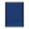 Nobo Noticeboard for Interior Glazed Case Lockable Fabric 9xA4 W792xD77xH1040mm Ref 1902556