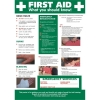 Stewart Superior First Aid Laminated Guidance Poster W420xH595mm Ref HS101
