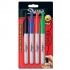 Sharpie Permanent Marker Pen Retractable with Seal Bullet Tip 1.0mm Line Assorted Ref S0810880 [Wallet 4]