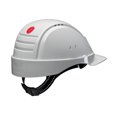 3M Solaris Safety Helmet Ventilation Peltor Uvicator Neck Protection White Ref G2000CUV-VI