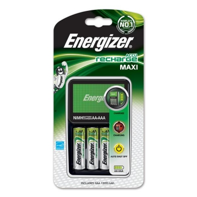 Energizer Maxi Battery Charger with 4x AA 2000mAh Batteries Ref 632325