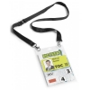 Durable Name Badges Delegate with Textile Necklace with Safety Closure Black Ref 8525-01 [Pack 10]