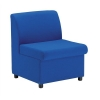 Trexus Modular Reception Chair Fully Upholstered Seat W590xD500xH420mm Blue