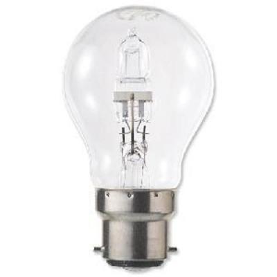 GE Light Bulb Energy Saving GLS Halogen Bayonet Fitting 46W Clear Ref 62575