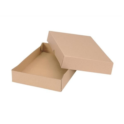 Self Locking Box Carton and Lid A4 305x215x50mm Brown [Pack 10]