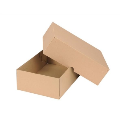 Self Locking Box Carton and Lid A4 W305xD215xH100mm Brown [Pack 10]