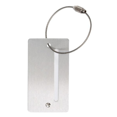 Alumaxx Luggage Tag Aluminium with Screw Closure W78xD45xH3mm Silver Ref 40503