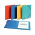 Elba Boston Part File Pressboard Elasticated 5-Part Foolscap Blue Ref 100090166 [Pack 5]