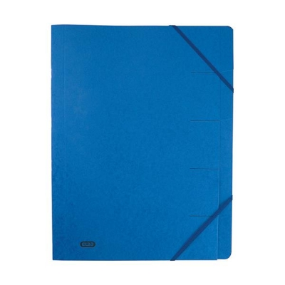 Elba Boston Part File Pressboard Elasticated 9-Part Foolscap Blue Ref 100090172 [Pack 5]
