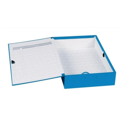 Concord Classic Box File 75mm Spine Foolscap Blue Ref C1278 [Pack 5]