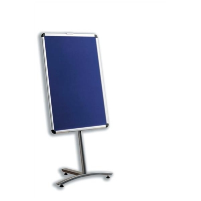 Nobo Foyer Combination Noticeboard Double-sided Drywipe and Blue Fabric W600x900mm Ref 1901925