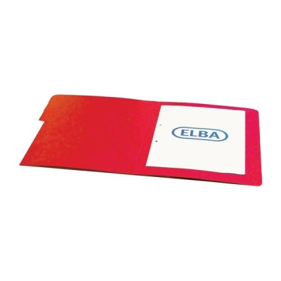 Elba Boston Part File Pressboard Elasticated 5-Part Foolscap Red Ref 100090167 [Pack 5]