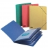 Elba Boston Part File Pressboard Elasticated 5-Part Foolscap Red Ref 100090167 [Pack 5]