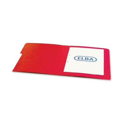 Elba Boston Part File Pressboard Elasticated 7-Part Foolscap Red Ref 100090171 [Pack 5]