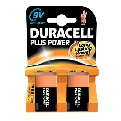 Duracell Plus Power MN1604 Battery Alkaline 9V Ref 81275459 [Pack 2]