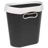 Avery Infinity Waste Bin Oval Flat-backed Removable Rim 18 Litres White and Grey Ref INF7WG
