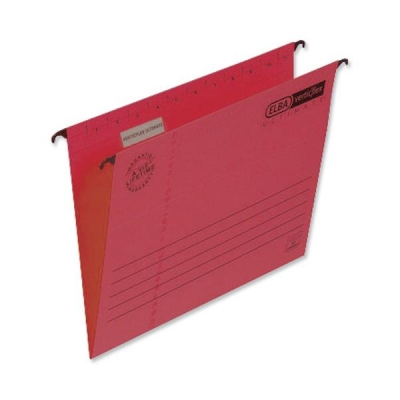 Elba Verticfile Ultimate Suspension File Manilla 240gsm A4 Red Ref 100331154 [Pack 25]