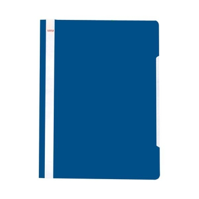 Leitz Standard Data Files Semi Rigid PVC Clear Front 20mm Title Strip A4 Blue Ref 4191-00-35 [Pack 25]