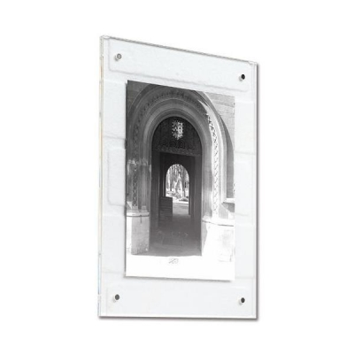 Acrylic Wall Picture Frame Magnet Closure with Fixings A4 Clear