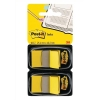 Post-it Index Flags 50 per Pack 25mm Yellow Ref 680-YEEU [Pack 2]