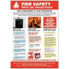 Stewart Superior Fire Safety Laminated Guidance Poster W420xH595mm Ref HS105